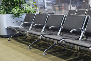 Row of seats in the airport