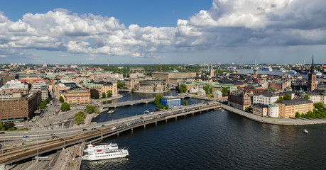 Showing the district of Gamla Stan, Stockholm, Sweeden