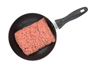 Fresh ground turkey in skillet