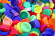 Color plastic caps background - 68357790