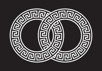 Illustration of the Greek Pattern Linked Together