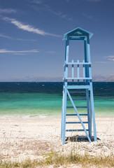 lifeguard tower, corfu, greece