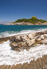 wild unspoilt coastline on Corfu