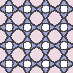 Modern arabic tiles seamless pattern