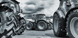farming tractor line-ups, plows and machinery - 68359740