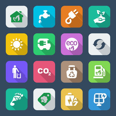 flat icons ecology set1 colorful
