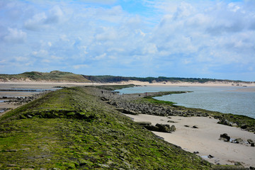 berck sur mer plage, touquet, pas de calais en france