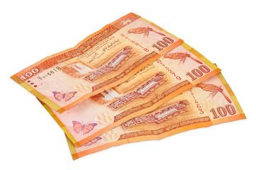 Sri lankan banknotes of 100 rupees
