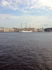 Sailbot on the Neva river