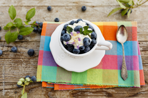 canvas print picture Blueberries - summer delights