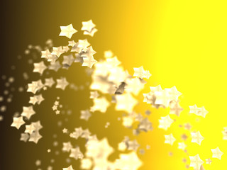 Shiny Stars Particles on smooth background