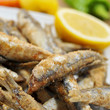 spanish boquerones fritos, fried anchovies typical in Spain