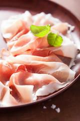sliced prosciutto ham