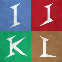 I J K L Mix alphabet letter font icon. Creative Marketing.