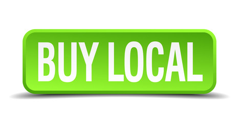 buy local green 3d realistic square isolated button