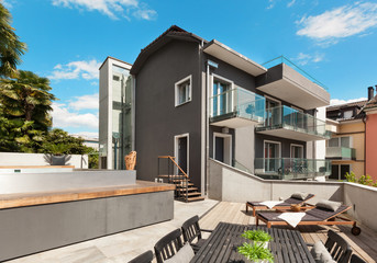 Nice terrace of modern house