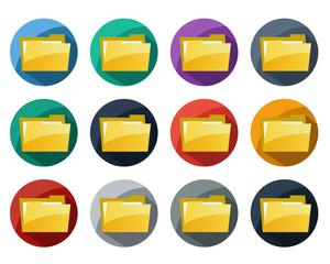 Set of Folder Icon