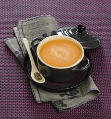 orange puree soup with cumin