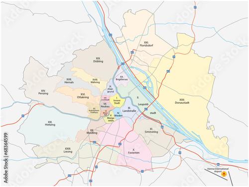 Wien administrativ Karte