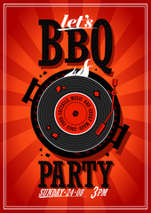Bbq party design.