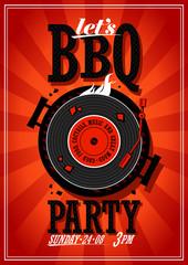Bbq party design.