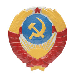 Soviet Coat of Arms on the white background