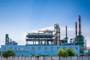 petrochemical plant closeup