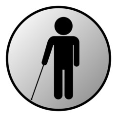 Blind disabled button