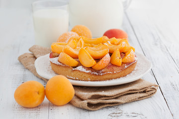 Sweet apricots cake
