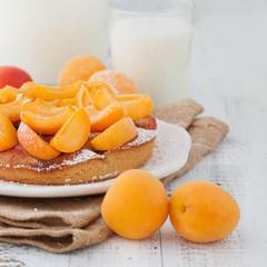Sweet apricots cake