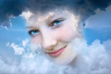 Teenager Wolkenlächeln