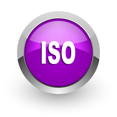 iso pink glossy web icon