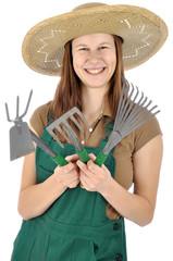 Gärtner mit Gartenwerkzeug