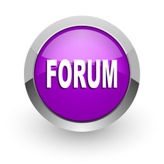 forum pink glossy web icon