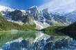Leinwanddruck Bild - Moraine Mountains