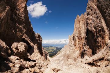 Sassolungo mountain rocky peaks