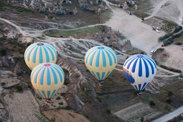 Cappadocia , the flight with the balloon at sunrise