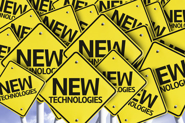 New Technologies written on multiple road sign