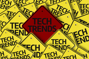 Tech Trends written on multiple road sign
