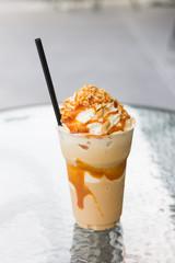 coffee  caramel frappe