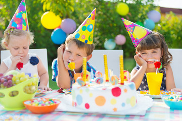 Outdoor birthday party for children
