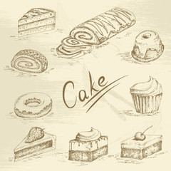 Hand drawn cake sketch
