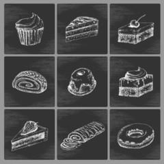 Sketch cake icons