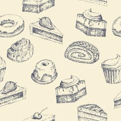 Seamless cake background