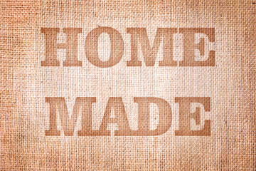 Old burlap. Background in vintage style