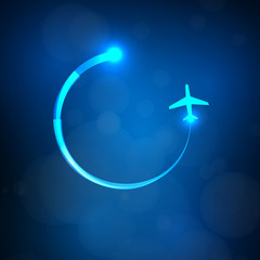 airplane light symbol, easy all editable
