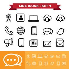 Line icons set 1