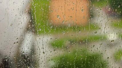 Rain in the town