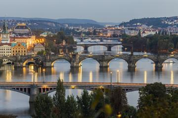 Brücken und Moldau in Prag
