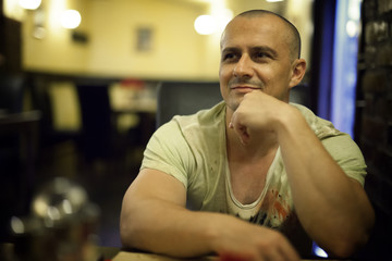 Man in a restaurant